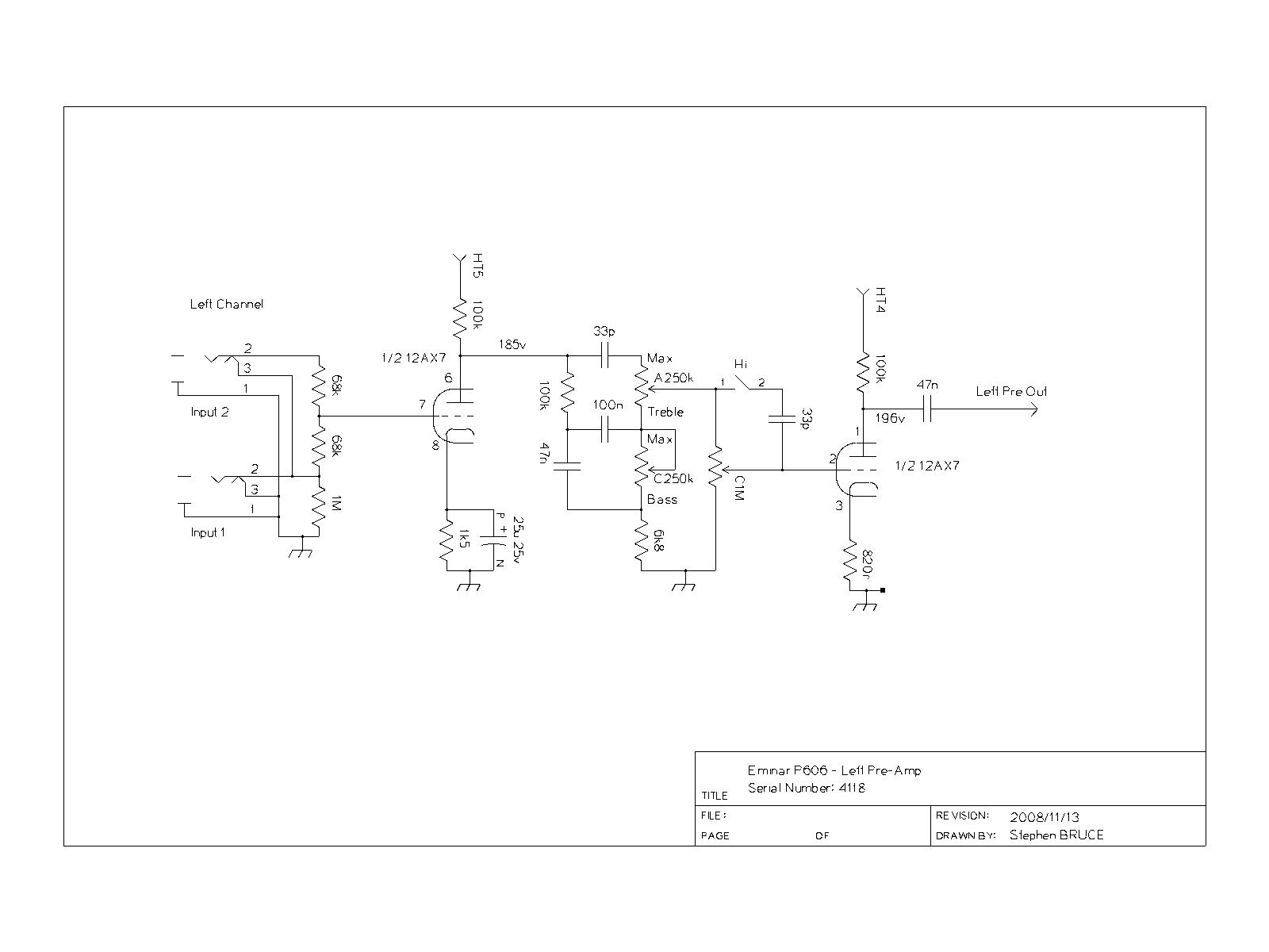 Eminar 70 Dart Wiring Diagram Preamp Left Circuit