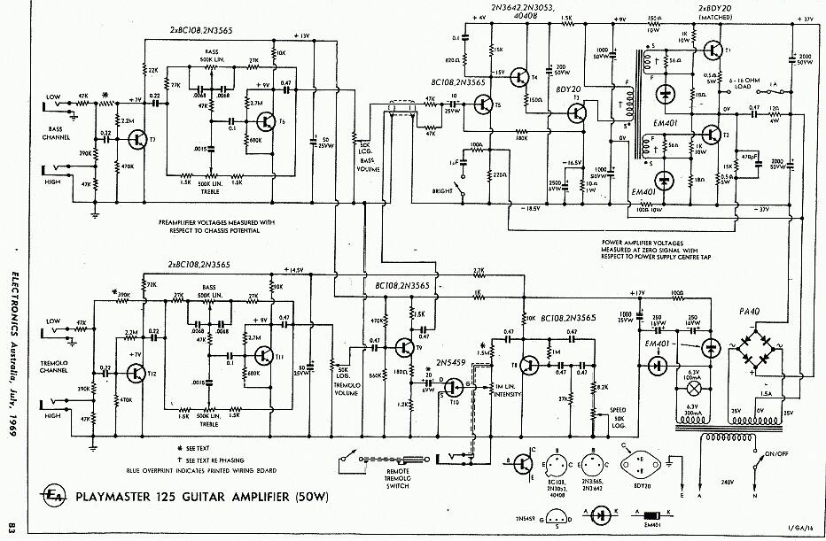 vintage silvertone power transistors