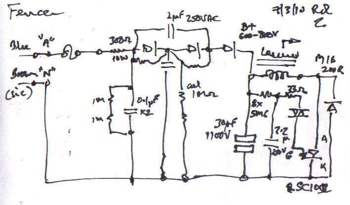 Battery Charger Circuit Diagram On Electric Fence Charger Schematic